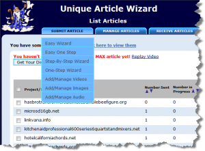 Unique Article Wizard