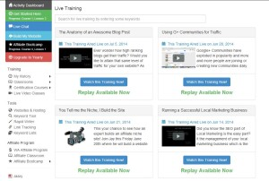 Wealthy Affiliate Video Training