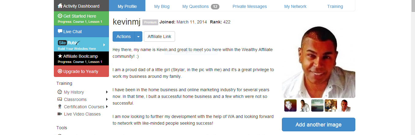 Wealthy Affiliate Profile